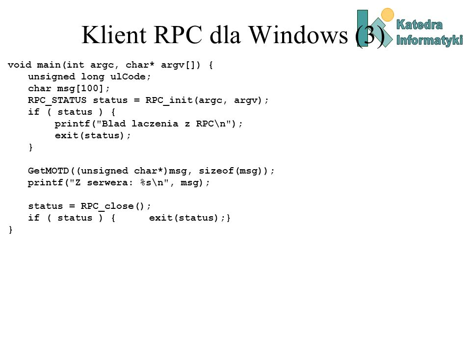 Klient RPC dla Windows (3)