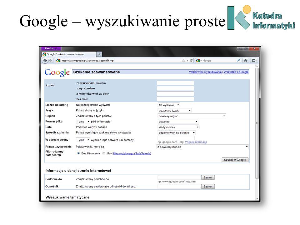 Google – wyszukiwanie proste