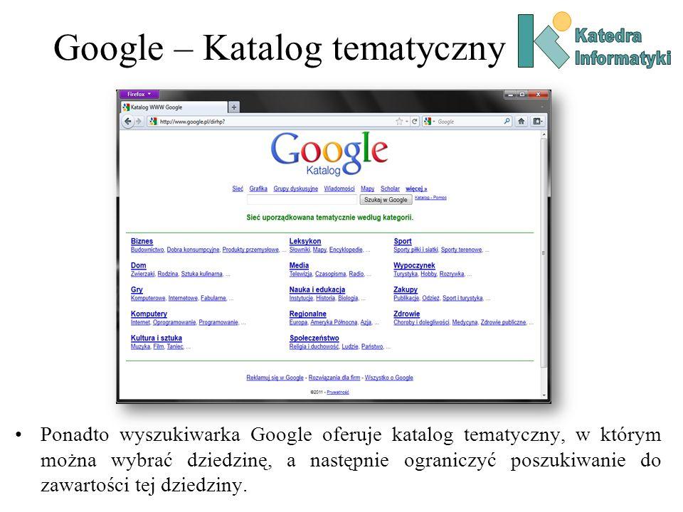 Google – Katalog tematyczny