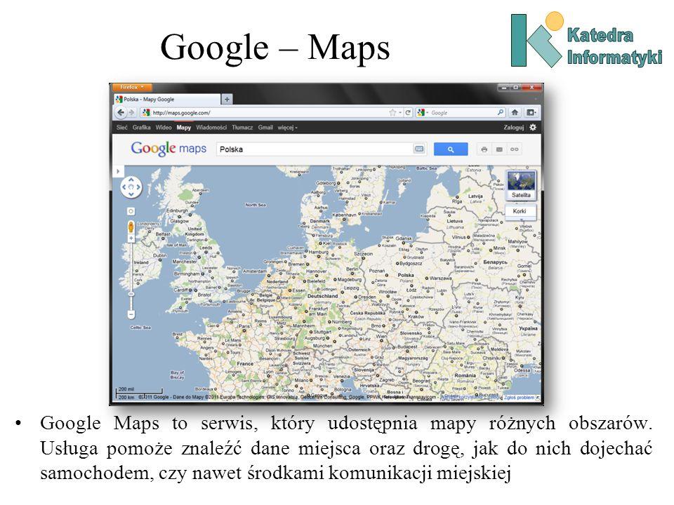 Google – MapsKatedra. Informatyki.