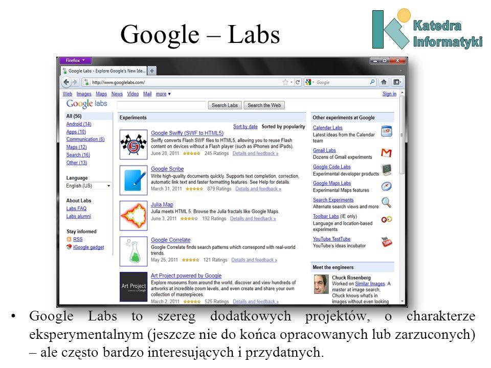 Google – Labs Katedra. Informatyki.