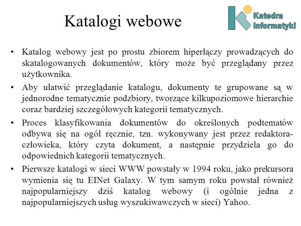 Katalogi webowe Katedra. Informatyki.