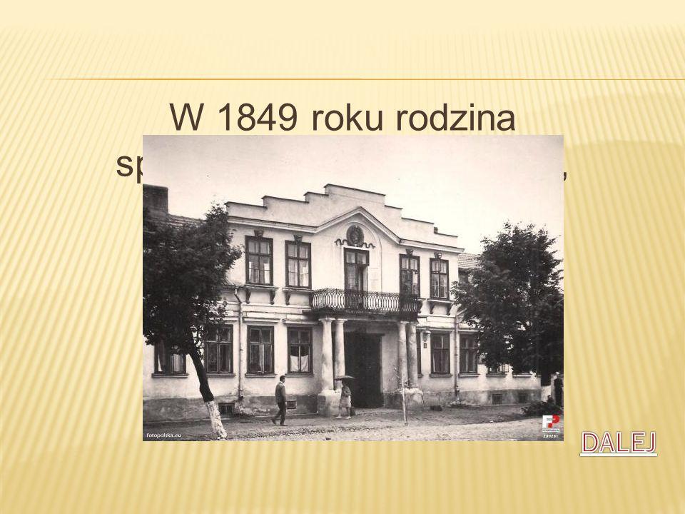 W 1849 roku rodzina sprowadziła się do Kalisza, gdzie przyszła poetka spędziła dzieciństwo i młodość.