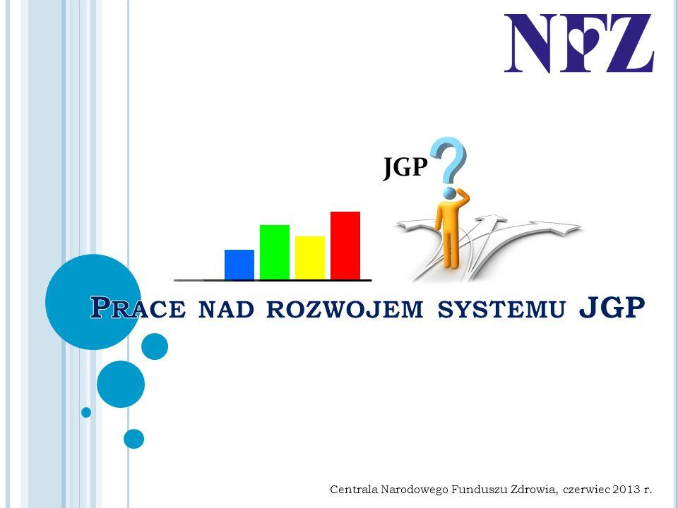 Prace nad rozwojem systemu JGP