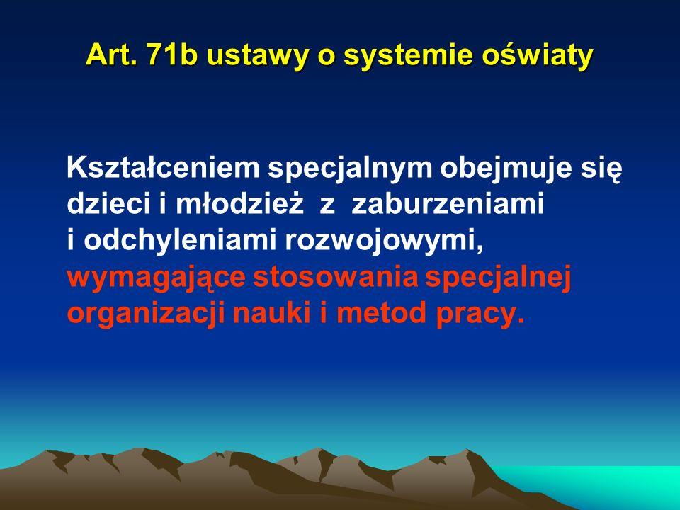 Art. 71b ustawy o systemie oświaty