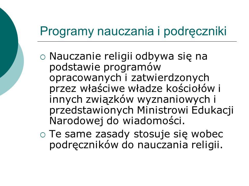 Programy nauczania i podręczniki