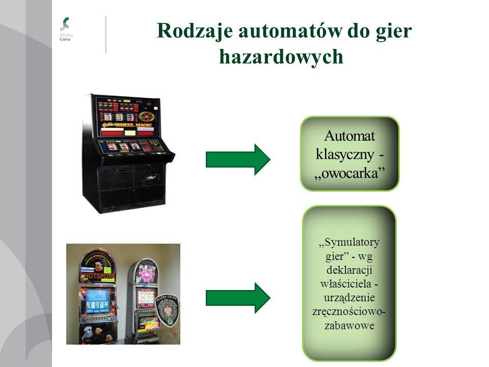 Rodzaje automatów do gier hazardowych