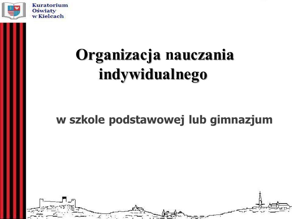 Organizacja nauczania indywidualnego