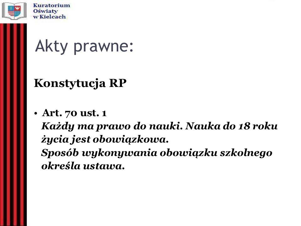 Akty prawne: Konstytucja RP Art. 70 ust. 1