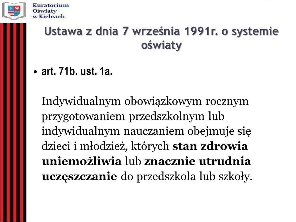 Ustawa z dnia 7 września 1991r. o systemie oświaty
