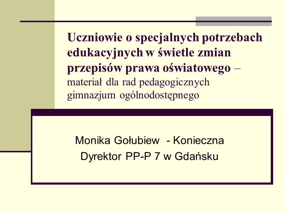 Monika Gołubiew - Konieczna Dyrektor PP-P 7 w Gdańsku