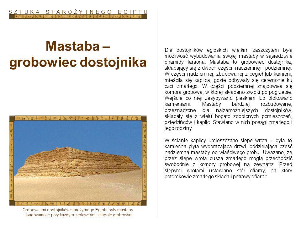 Mastaba – grobowiec dostojnika