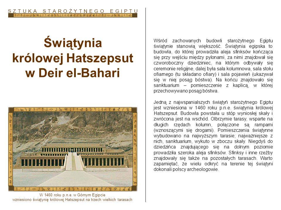 Świątynia królowej Hatszepsut w Deir el-Bahari