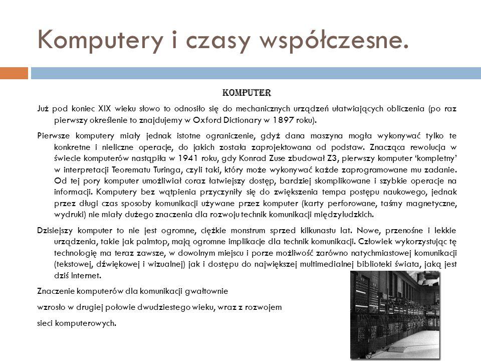 Komputery i czasy współczesne.