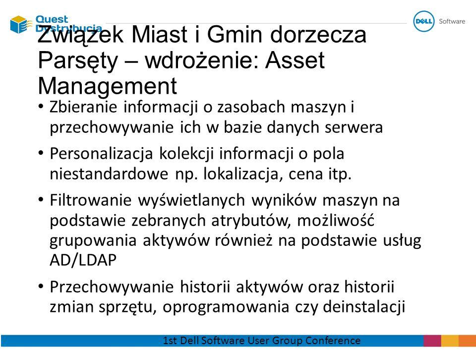 Związek Miast i Gmin dorzecza Parsęty – wdrożenie: Asset Management