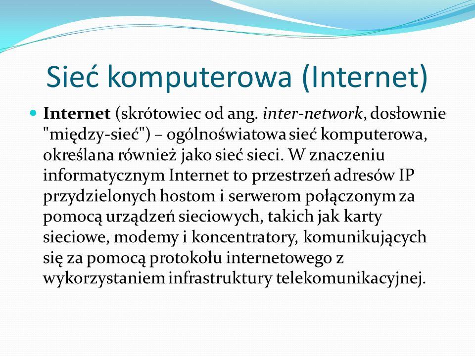 Sieć komputerowa (Internet)