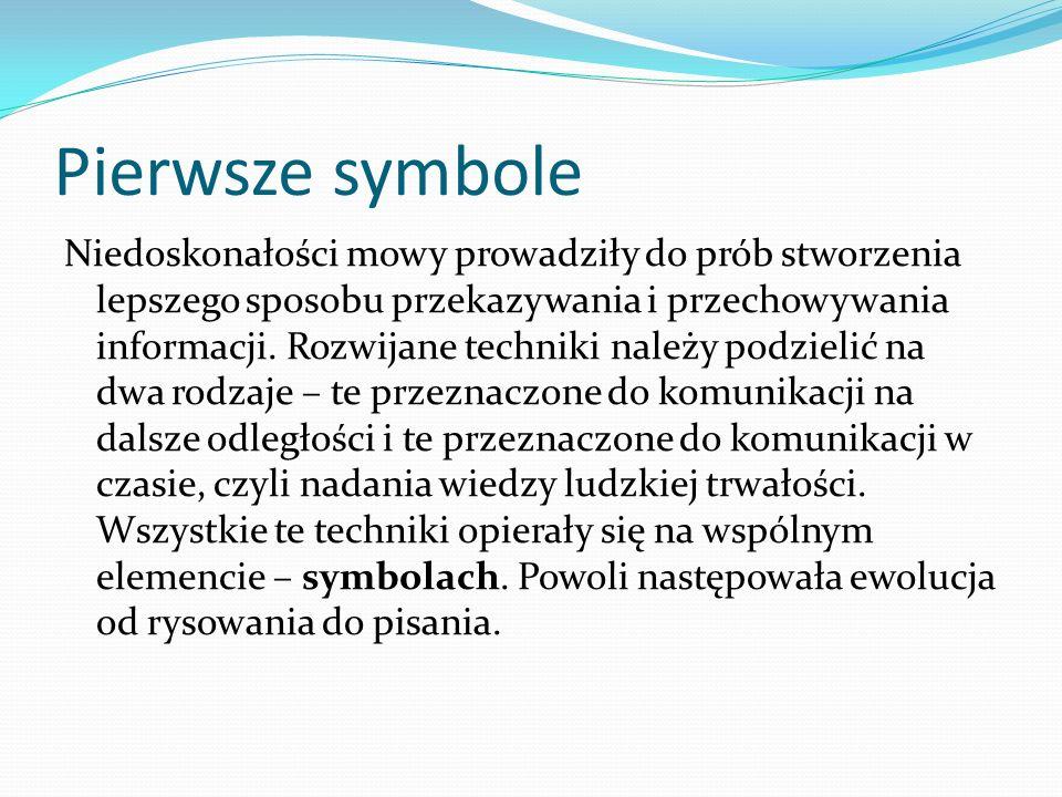 Pierwsze symbole