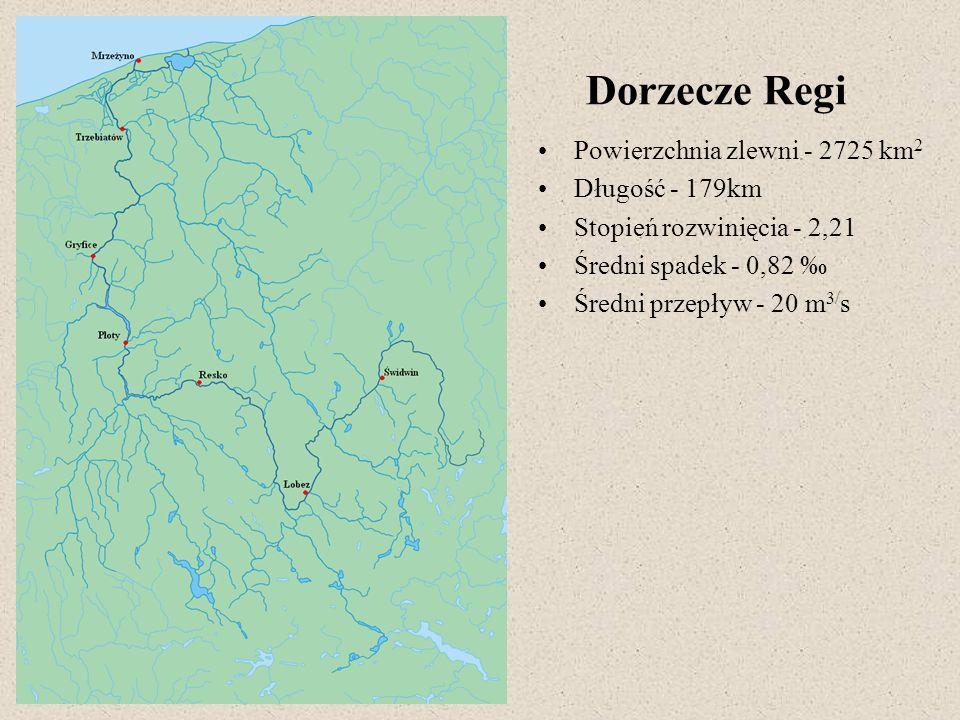 Dorzecze Regi Powierzchnia zlewni - 2725 km2 Długość - 179km