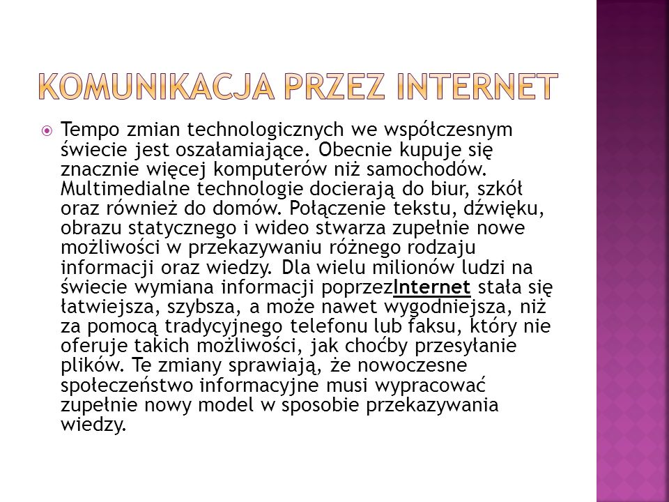 Komunikacja przez internet