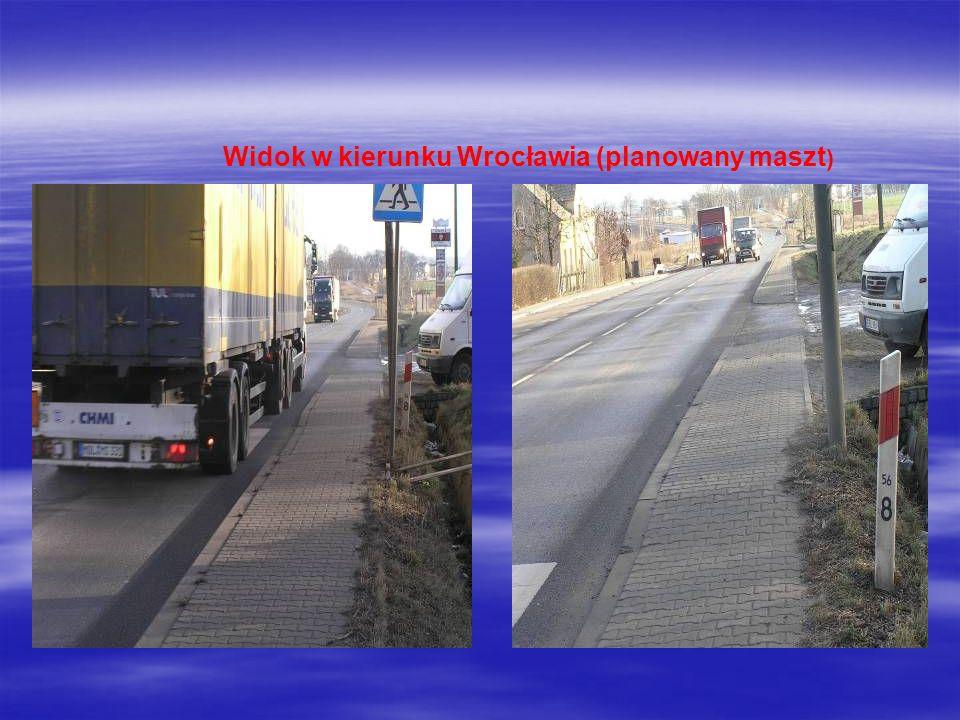 Widok w kierunku Wrocławia (planowany maszt)