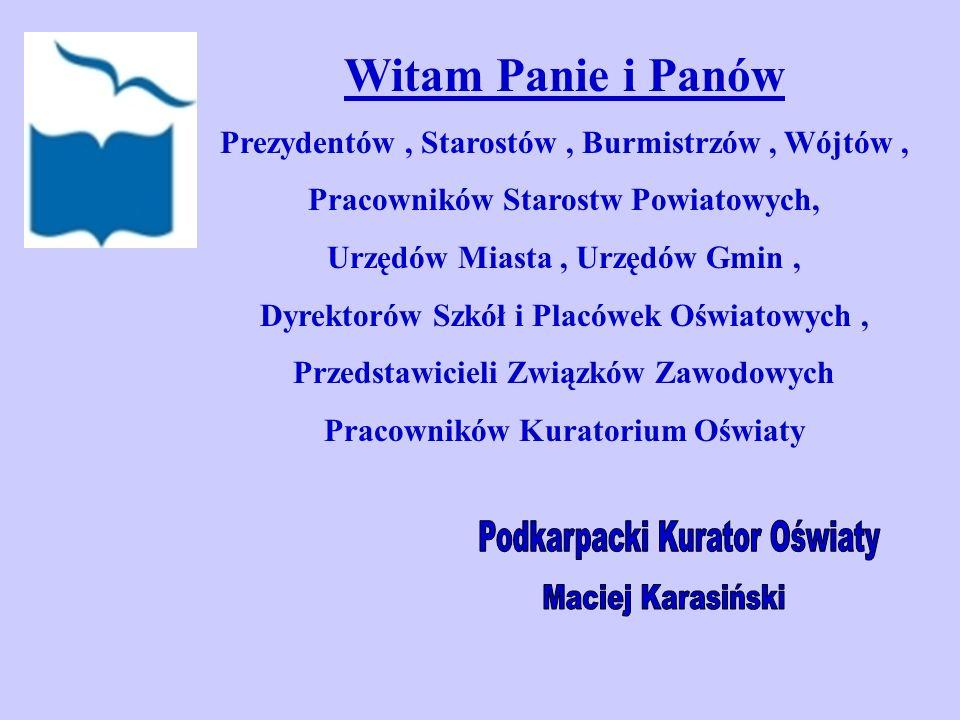Podkarpacki Kurator Oświaty Maciej Karasiński