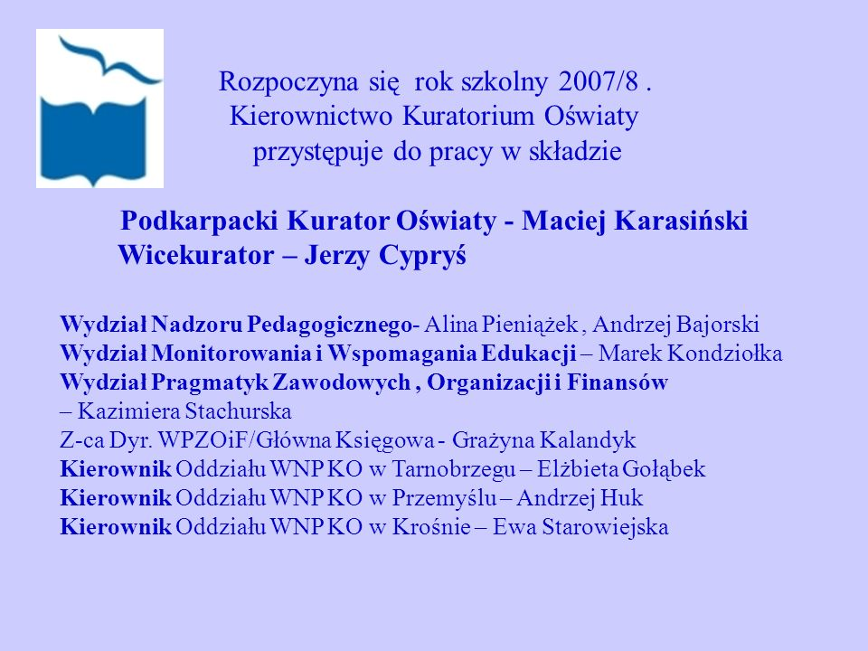Podkarpacki Kurator Oświaty - Maciej Karasiński