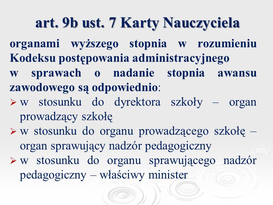art. 9b ust. 7 Karty Nauczyciela