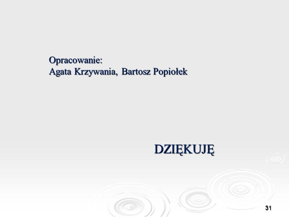 Opracowanie: Agata Krzywania, Bartosz Popiołek