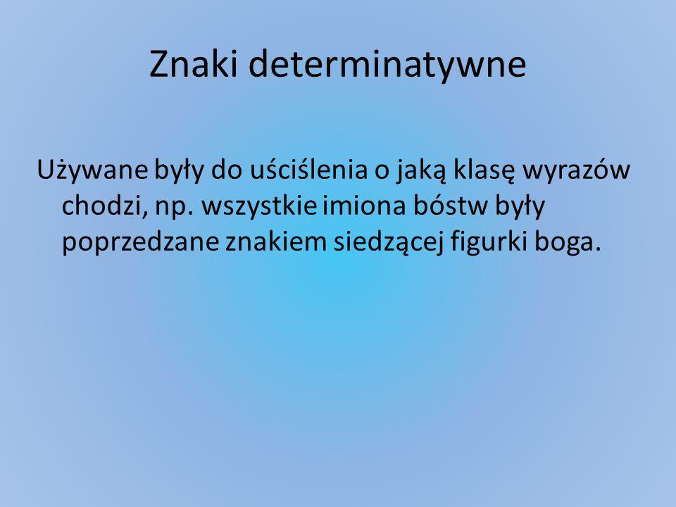 Znaki determinatywne