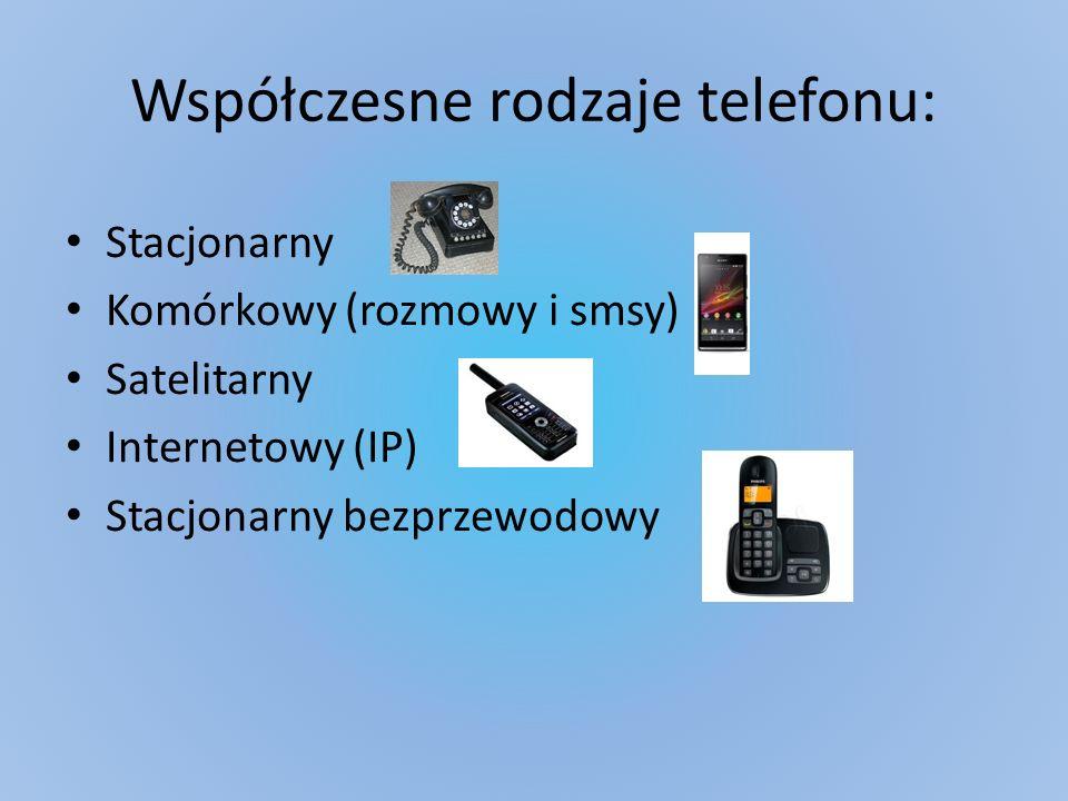Współczesne rodzaje telefonu: