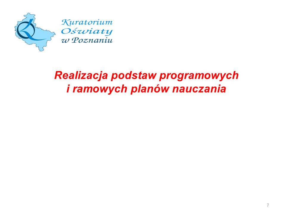 Realizacja podstaw programowych i ramowych planów nauczania