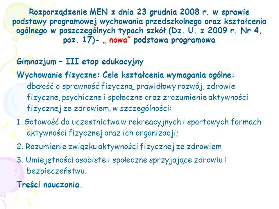 Rozporządzenie MEN z dnia 23 grudnia 2008 r