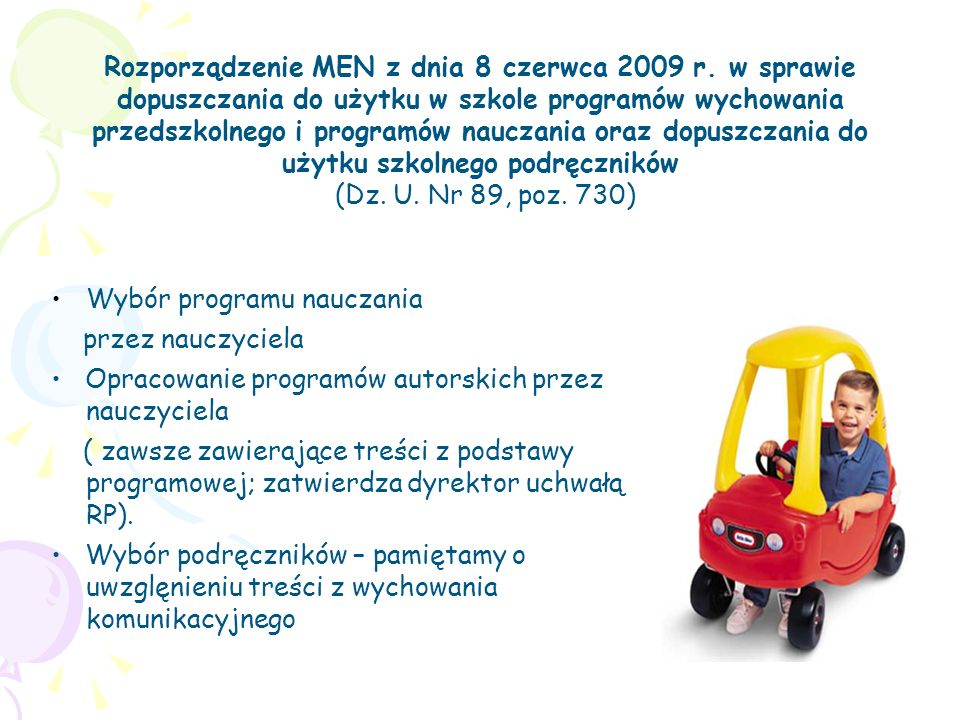 Rozporządzenie MEN z dnia 8 czerwca 2009 r