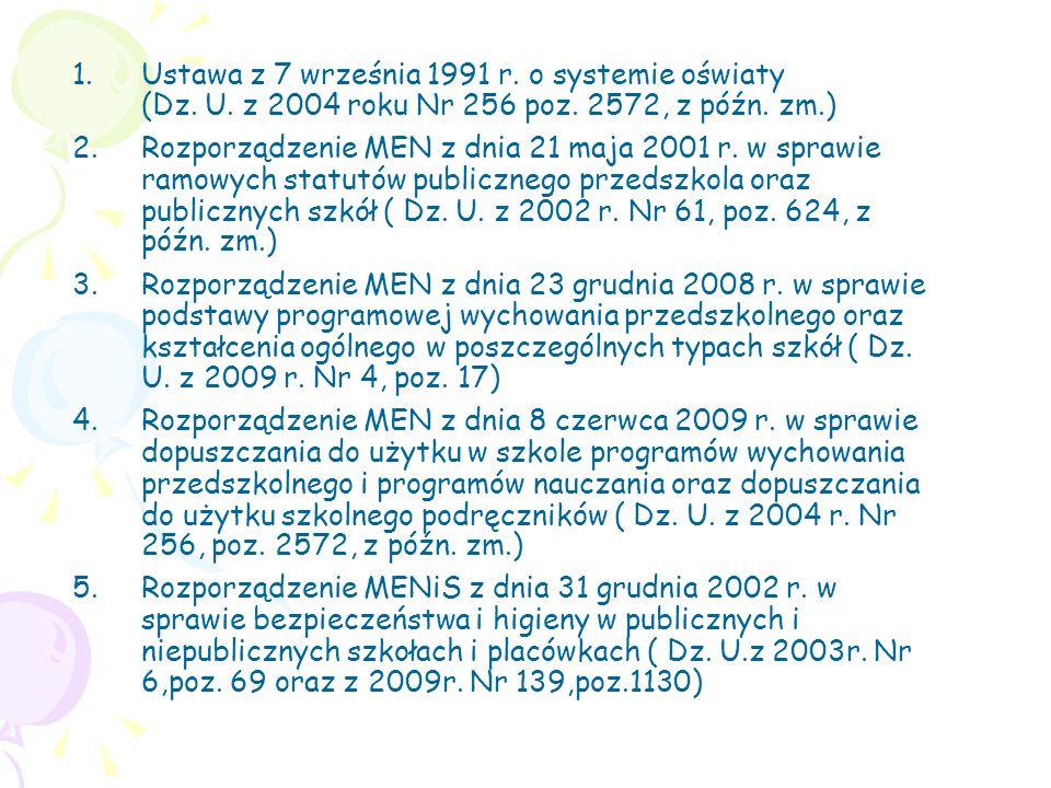 Ustawa z 7 września 1991 r. o systemie oświaty (Dz. U