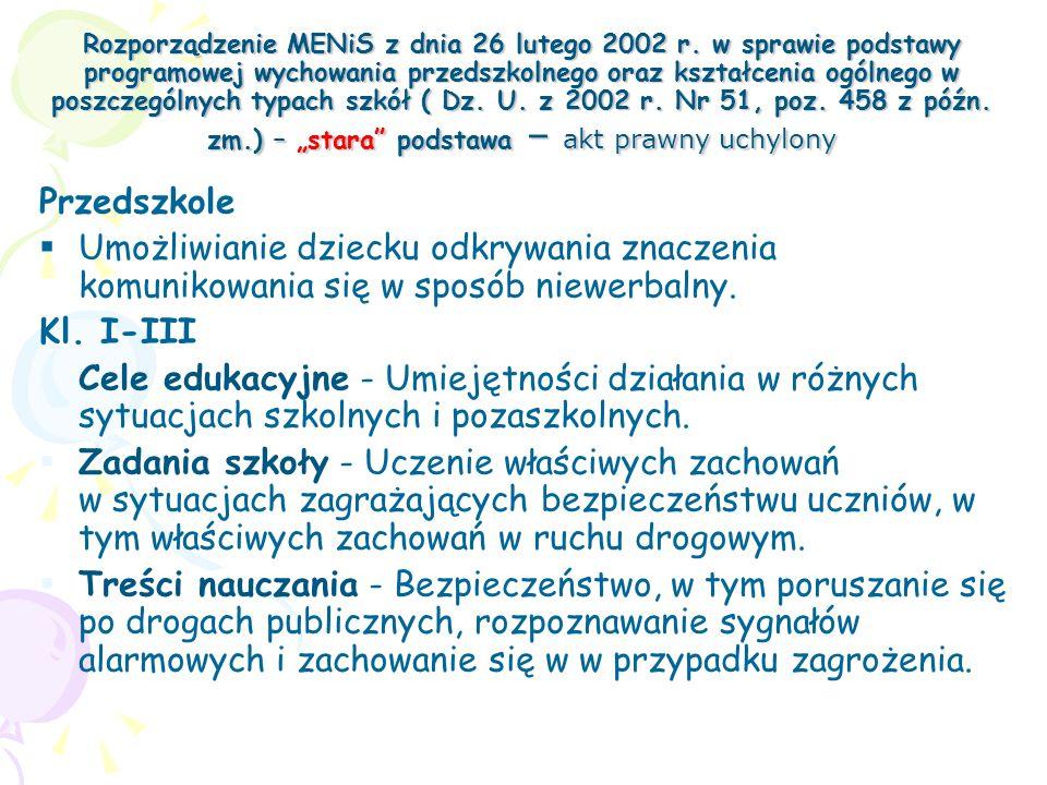 Rozporządzenie MENiS z dnia 26 lutego 2002 r