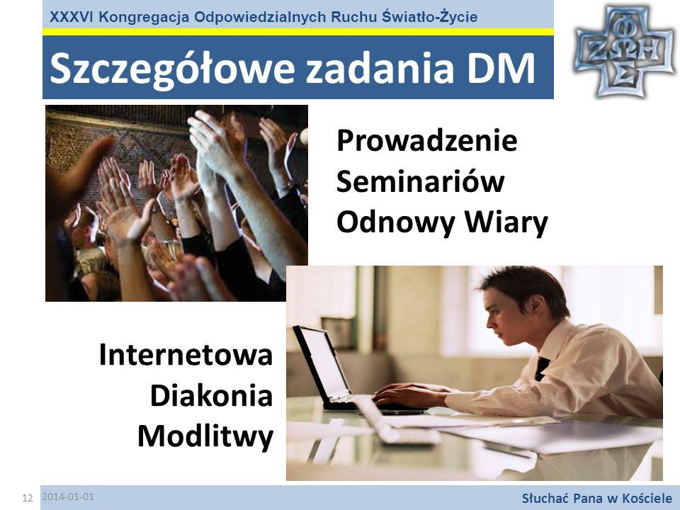 Szczegółowe zadania DM