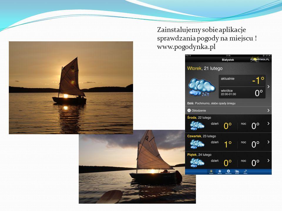 Zainstalujemy sobie aplikacje sprawdzania pogody na miejscu. www