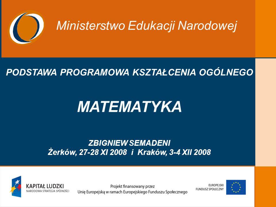 MATEMATYKA Ministerstwo Edukacji Narodowej