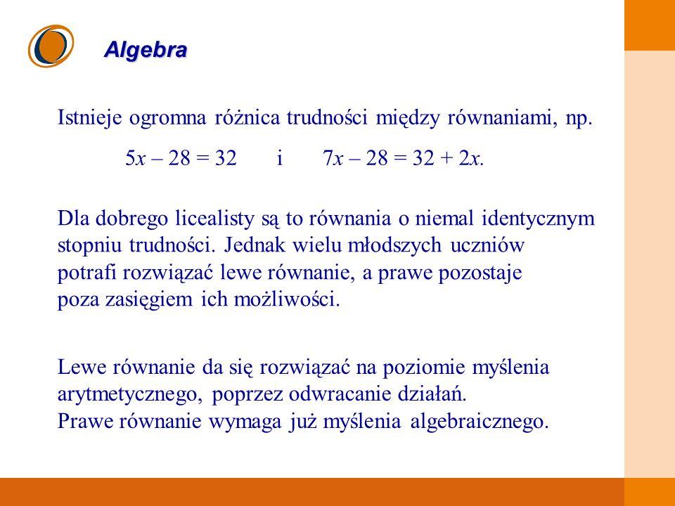 Istnieje ogromna różnica trudności między równaniami, np.