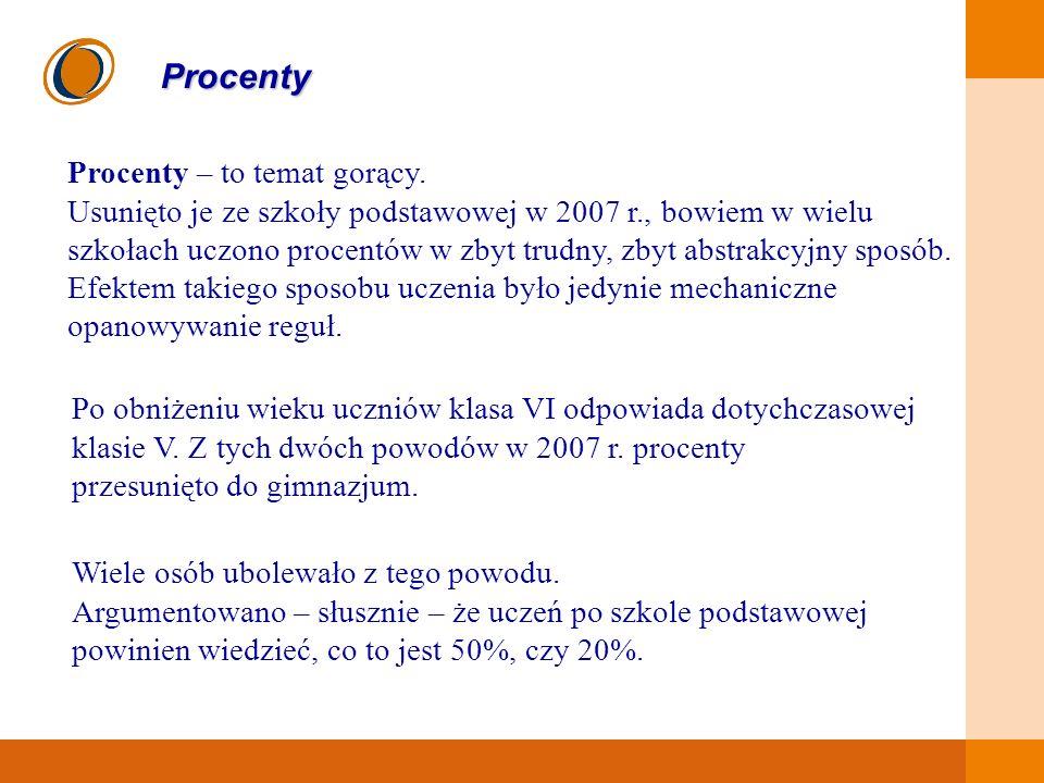 Procenty Procenty – to temat gorący.
