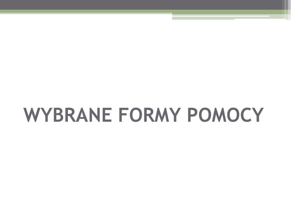 WYBRANE FORMY POMOCY