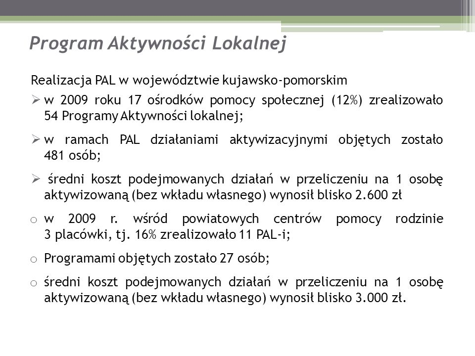 Program Aktywności Lokalnej