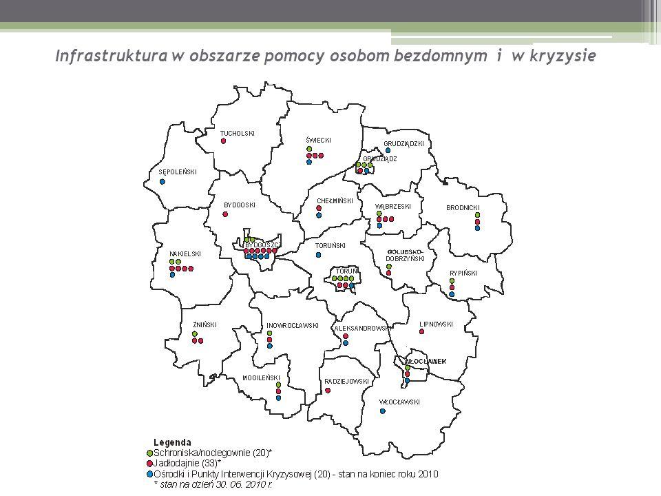 Infrastruktura w obszarze pomocy osobom bezdomnym i w kryzysie