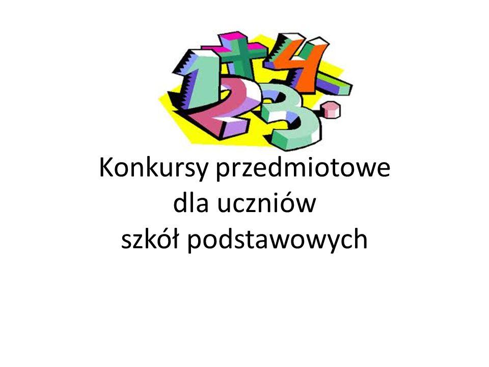 Konkursy przedmiotowe dla uczniów szkół podstawowych
