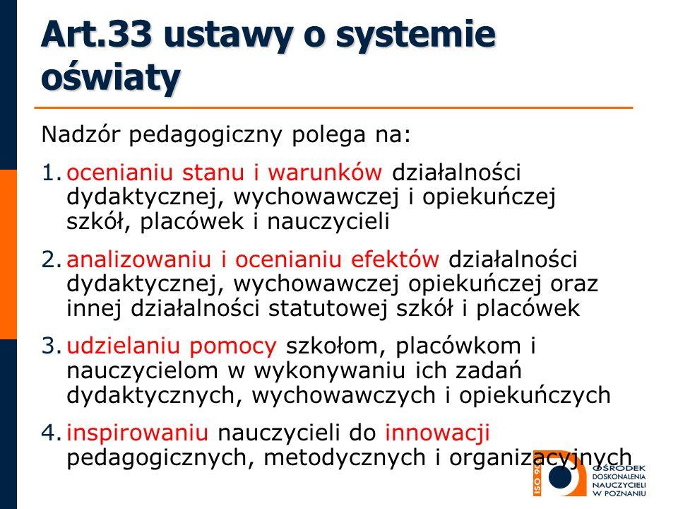 Art.33 ustawy o systemie oświaty
