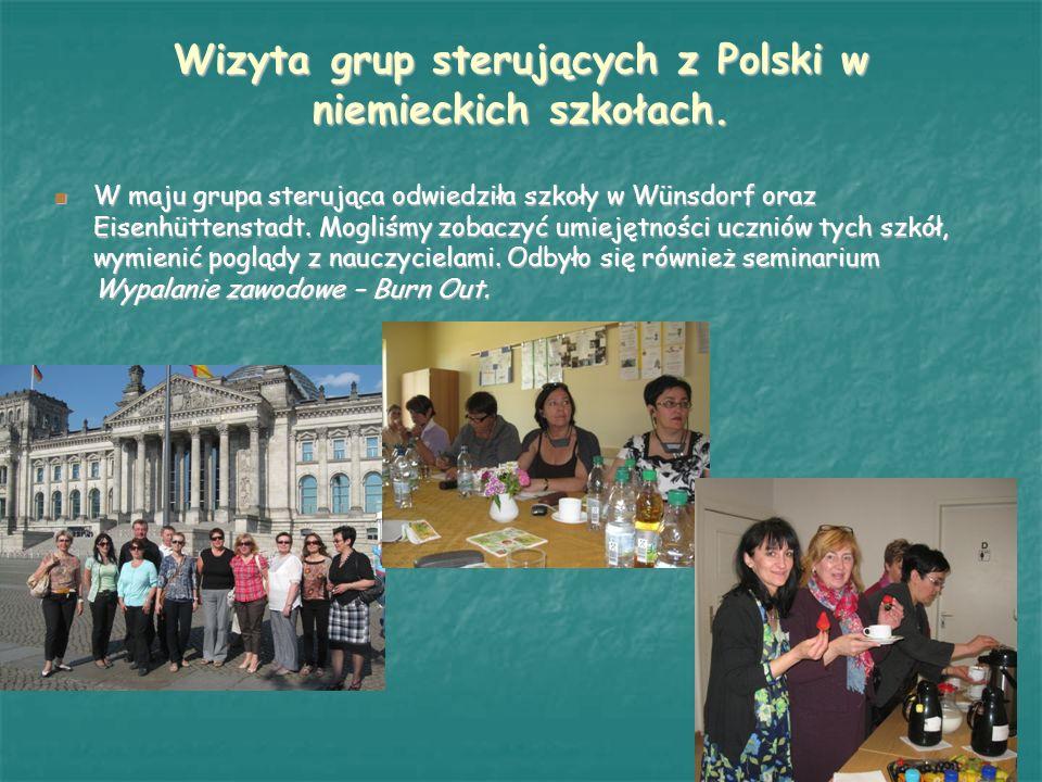 Wizyta grup sterujących z Polski w niemieckich szkołach.
