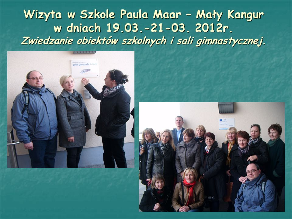 Wizyta w Szkole Paula Maar – Mały Kangur w dniach 19.03.-21-03.