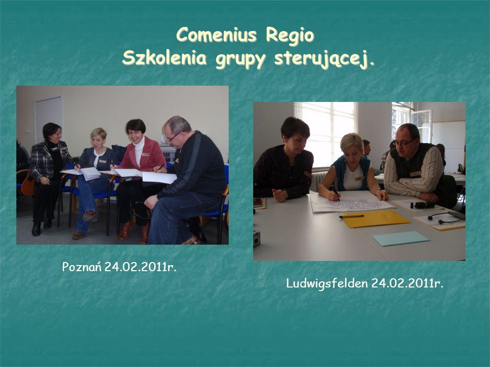 Comenius Regio Szkolenia grupy sterującej.