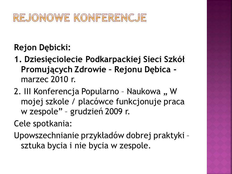 rejonowe konferencje Rejon Dębicki: