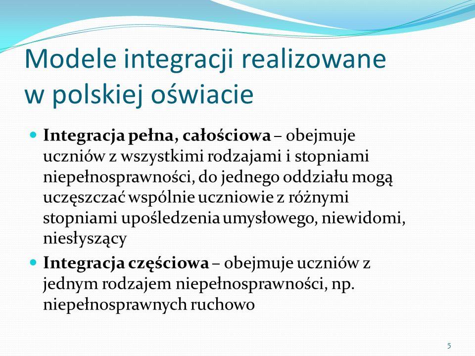Modele integracji realizowane w polskiej oświacie